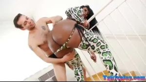 Gorgeous, ebony beauty, Phetr Messing is cheating on her partner with a handsome, white guy