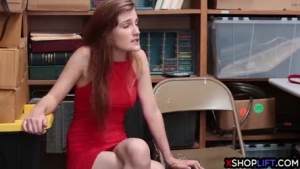 Teen brunette is getting her throat fucked while taking a break from studying, because she pounds her ass